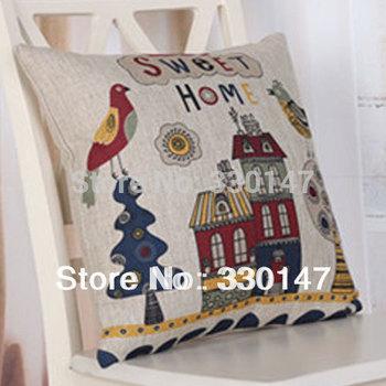 Vintage Linen Cotton Seet House Pillow Case Originality Throw Cushion Cover Home Sofa Decorative