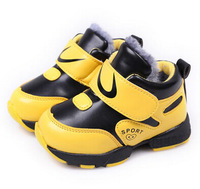 2013 winter new children's wear men's shoes two sherpa soft-soled high help snow boots cotton-padded shoes