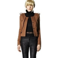 2013 hot selling   Ladies outwear tops autumn& winter Cardigan epaulet  long sleeve coat jacket clothes,Free Shipping