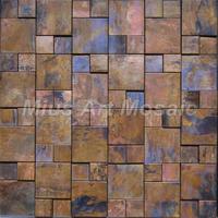 [Mius Art Mosaic] Copper mosaic tile with antique bronze finish  for backsplash tile A6YB007