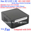 Free shipping mini itx pcs with AMD Athlon Neo X2 L325 Slim ODD CD-ROM 4G RAM 16G SSD windows or linux installed HD3200 Graphic