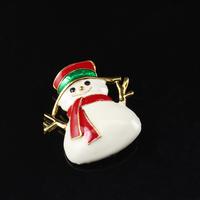 Women  Christmas Snowman Costume Jewelry Pin Brooch  Christmas Brooch