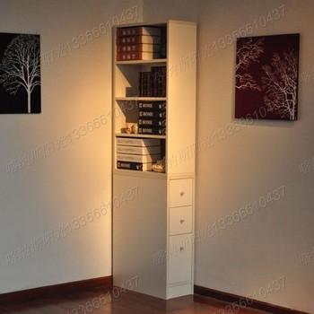 Brief modern drawer cabinet storage cabinet bookcase bookshelf smoke 3 4 split corner cabinet - 05