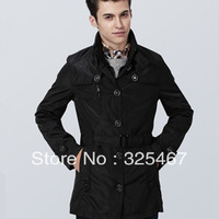 Autumn fashion medium-long 2013 male trench casual turn-down collar outerwear