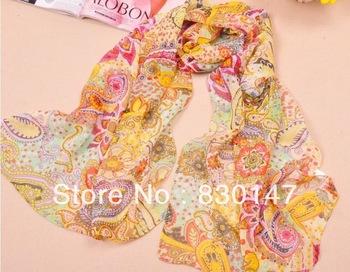 Free Shipping!!! 2013 Wholesale Handmade And Factory Directly Sale Fashion Silk Pashmina Chiffon Scarf For Women
