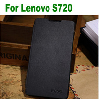 New Arrival Flip Leather Case Cover For Lenovo S720 MTK6577 4.5 Inch Smart Phone Free Drop Shipping
