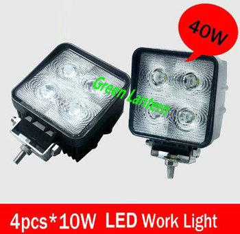 40W White light Cree Led Work Lights led Car light Flood Fog Light
