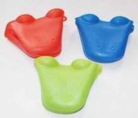 Free Shipping 4pcs Dog/Doggie Design Pliable Silicone Pot Holder Silicone Glove Oven Mitt