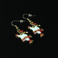 1 pair Cute Santa's Christmas Earrings Snowman Christmas Tree Earring