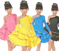 Child dance clothes Latin dance clothes dance dress dance costumes free shipping