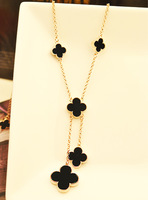 fashion jewelry Natural shell quality four leaf clover necklace  high quality jewelry