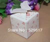 2013new items 50pcs/lot angel wings wedding favor boxes, birthday candy box,baby shower sweet box