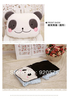 2013 Free Shipping Hot Sales Cute Smile Panda  Air Condition Quilt and Car Cushion Quilt Home Decoration Car Quilt Warm Quilt