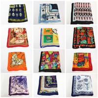 Mulberry silk silk scarf small facecloth bandanas work wear silk scarf 28