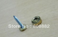 10pcs Golden Solid Copper Decorative Screw Cap Advertising Mirror Nail 22mm