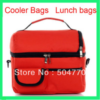 6pcs/lot Canvascooler lunch bag picnic ice lunch bags mommy travel warm bags