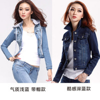 2013 slim long-sleeve denim outerwear female top short design jacket denim short jacket spring and autumn 810