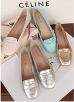 Fashion 2013 spring soft full sheepskin female shoes flat heel single shoes plain low-top shoes