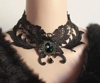 Wholesale Handmade design lace necklace & pendant women short evening dress accessories Gothic  jewelry choker necklace (XL-01)