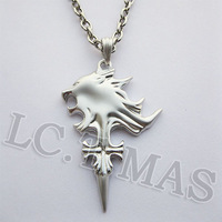 Free shipping New Final Fantasy VIII FF8 Griever Sleeping Lion Heart Lion Head Silver Necklace Chain