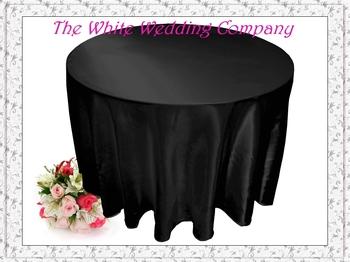 10pcs 70'' Round Satin BLACK Banquet Tablecloths for Sale  Wedding Table Linens