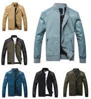7 Colors ! Dropshipping Men Jacket Quality PU Patchwork Autumn Clothing for Men 2014 Free Shipping Coat (M L XL XXL XXXL)
