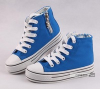 2013 spring Bab duck shoes child in big boy high platform canvas shoes female child boys shoes