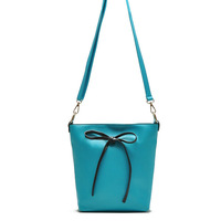 2013 new candy-colored high quality brand design decorative bow PU leather bag shoulder bag / women messenger bag