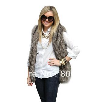 Free shipping Hot selling Women Faux Fur Vest Winter Long Vest Luxury Fur Coat