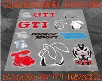 Car refires mark of motorcycle decoration applique personalized car stickers vw gti rabbit emblem