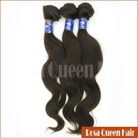 Free Shipping Hot Fashion 5A Grade Raw Remy Virgin Brazilian Body Wavy Hair Human 3 Bundles Rosa Queen Hair Product