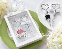Free Shipping 30 pcs/lot Personalized Cheers to a Great Combination Corkscrew and Stopper Sets Wedding Faovrs Gifts