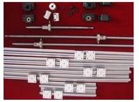 2 X SBR20 L = 400/1500/1500mm linear rail guide & 3 BALL SCREW RM1605 = 450/1550/1550mm & 3 BK/BF12 & 3 Couplers 6.35*10mm