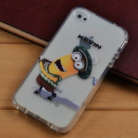 Free Shipping For Galaxy S4 I9500 Cute Cartoon Yellow Minion Dispicable Me Soft TPU Case