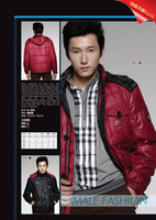 Outdoor jacket Winter down coat in hand men's a-205 customize Men semi-finished products  down jacket man