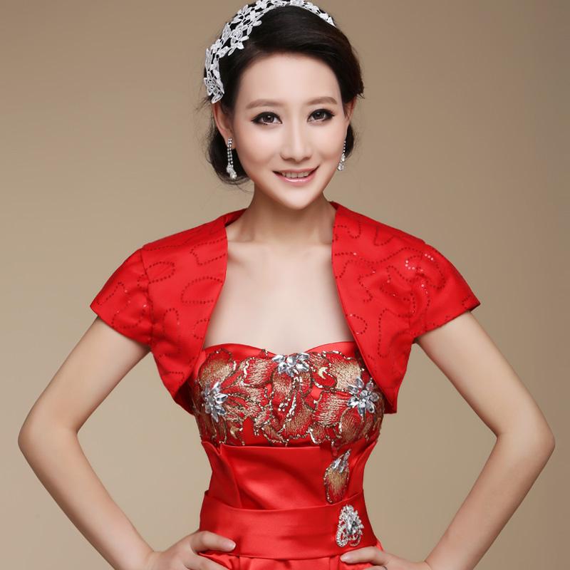 Red Bride Wedding Formal Dress