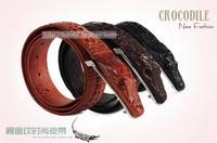 Free shipping! Personalized alligator strap pin buckle genuine men leather belt wide belt big yards Men nightclub