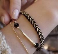 2013 Free Shiping Original Design Double Layer Bracelet Fashion Elegant Brief All-match Bracelet Jewelry Female