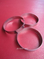 Diy utensils stainless steel circle cookises biscuit mould mousse ring pineapple cake mjtba010