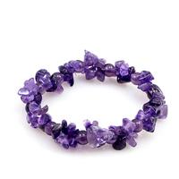 2013 Free Shiping Natural Amethyst Broken Stone Irregular Bracelet Hand-woven Rope Amethyst Stone Bracelet