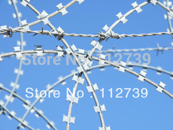 Cross Type Razor Wire, BTO-12,Wall Protection,Thickness Of Coil Wire 2.5mm, Material Iron Wire, Professional Concertina Supplier