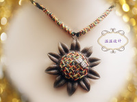 Ww accessories short design necklace bohemia vintage sunflower butterfly rope series necklace