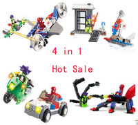 Kazi Building Blocks,Spiderman 87001-4,  4 items/set, Self-locking Bricks, Toys for Children