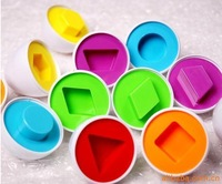 NEW  wholesale lots 10pcs Educational Toys Study Shape Pairings Smart Egg Blocks Children gift