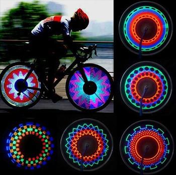 Бесплатная доставка 32 режим из светодиодов колесо сигнальные огни для велосипеды мотоцикл на цикл шин спиц JM-00599