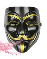 black V vendetta team guy fawkes masquerade Halloween carnival Mask freak vizard face party mask