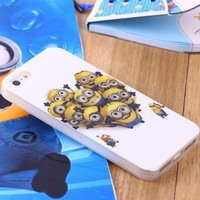 Fashion New Design 3D Cute Cartoon Despicable Me Minion Soft Silicone Back Cover Case For iPhone 5 5G 10PCS/lot +free shipping