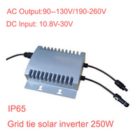 water proof solar on grid tie inverter 250W IP65 , Input 10.8V ~ 30V , output 90V ~ 130V / 190V-260V