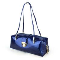 White collar 2013 bag ol shoulder bag women's bag navy blue patent leather japanned leather female bags