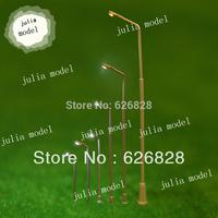 50pc Wholesale - 1:500 model street copper light, white led 12V, model lampost , lamp